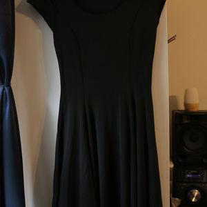 Blackmilk Dresses - Blackmilk black cap-sleeve skater skirt dress, Med